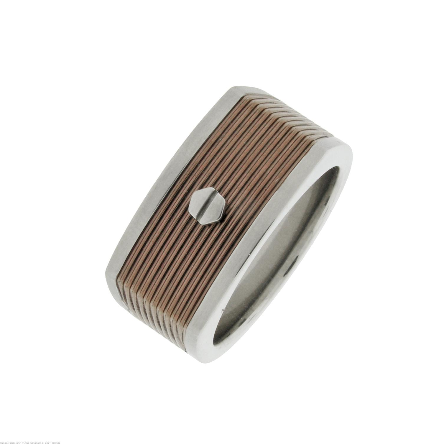 Findingking Stainless Steel Chocolate Plated Ring Sz 11 at Sears.com