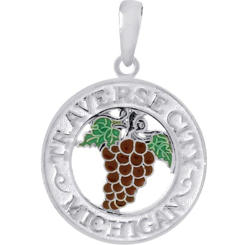 Findingking Sterling Silver Traverse City Circle Pendant at Sears.com