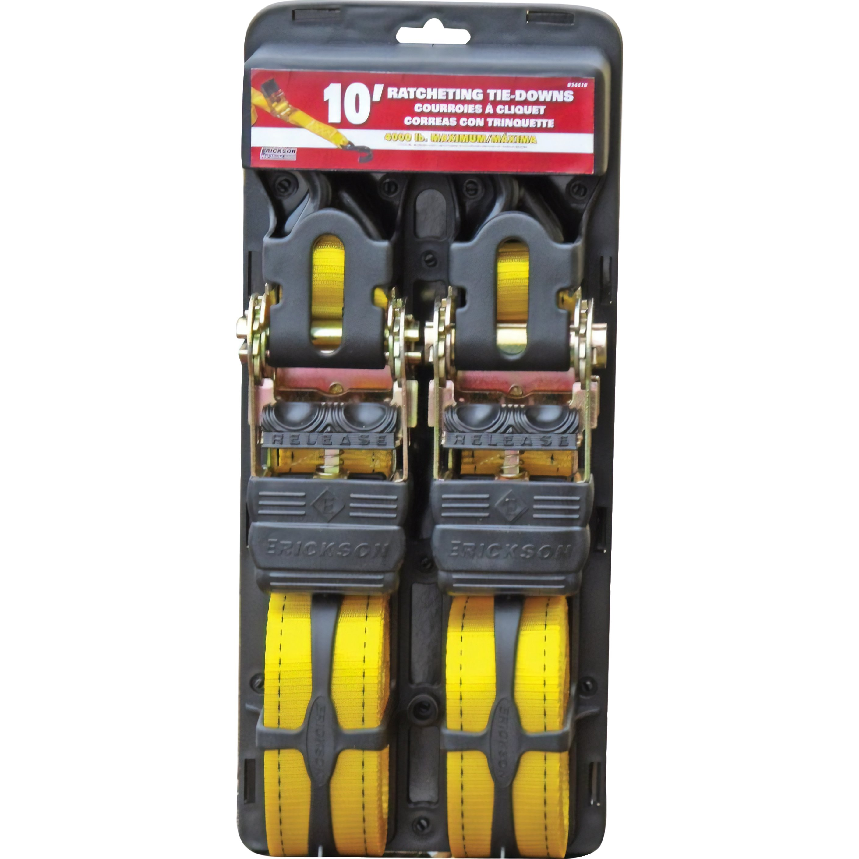 "Findingking Pro Series 2"" x 10' Ratchet Straps 4000 lb Yellow 2Pcs at Sears.com"