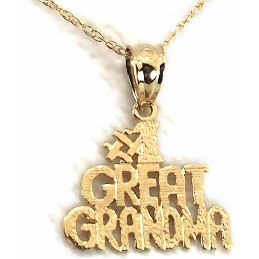 "Findingking 14K Gold #1 Great Grandma Charm 18"" Chain Jewelry at Sears.com"