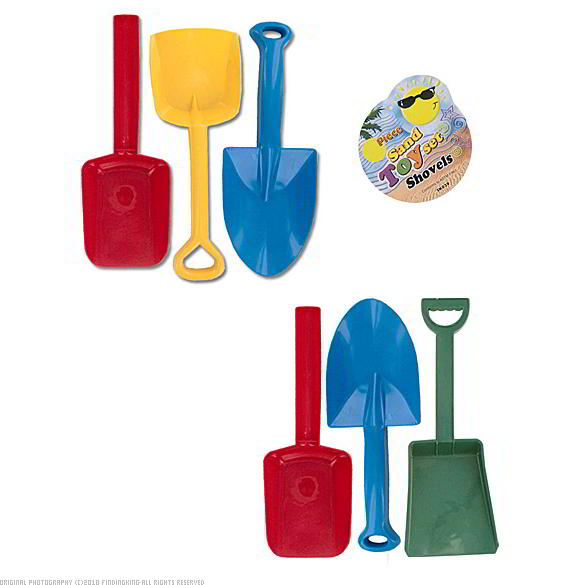 Findingking 48 Packs of 3 Assorted Plastic Sand Shovels at Sears.com