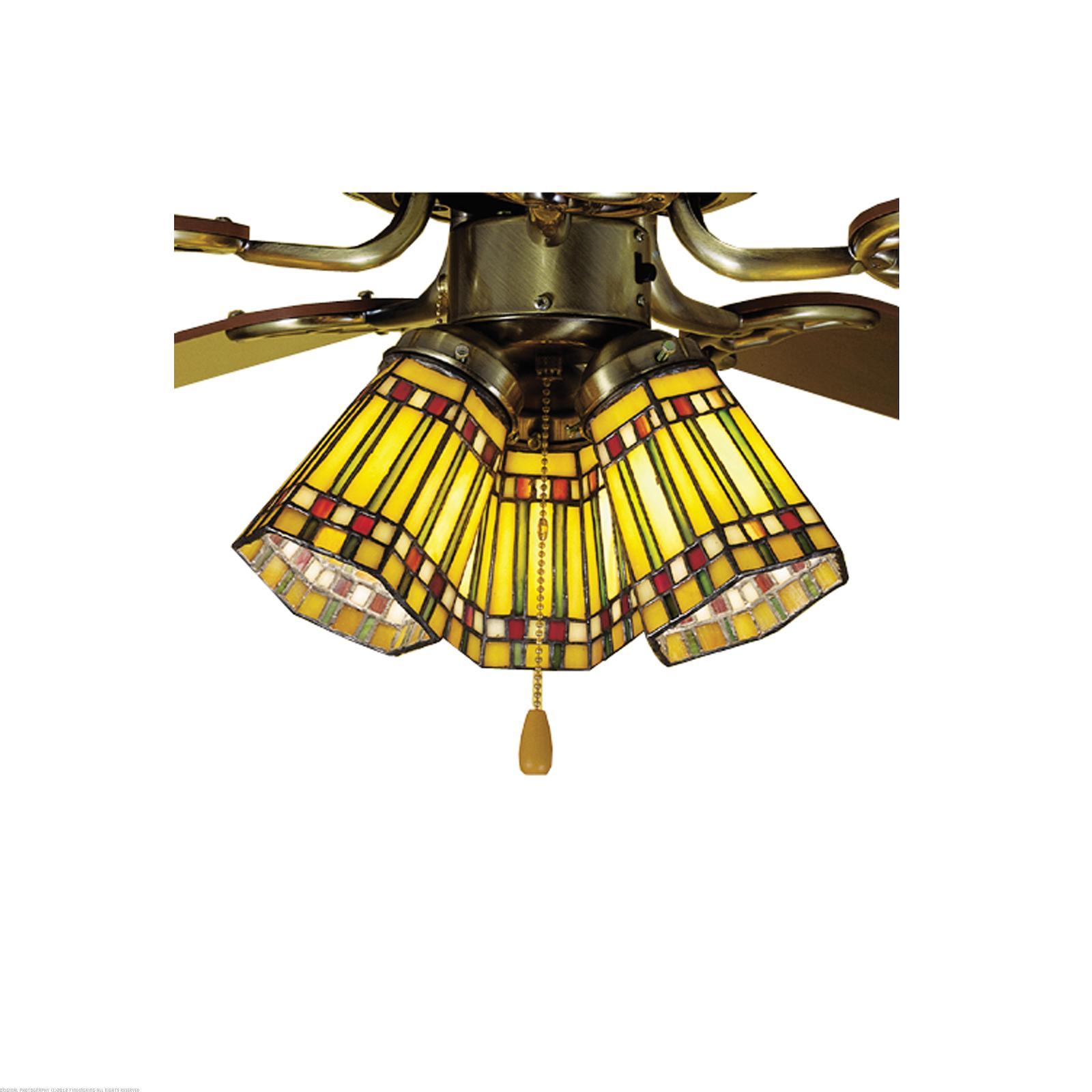 """Fan Lamp Shades: Meyda Tiffany 4"""" W Prairie Corn Fan Light Shade Ceiling"""