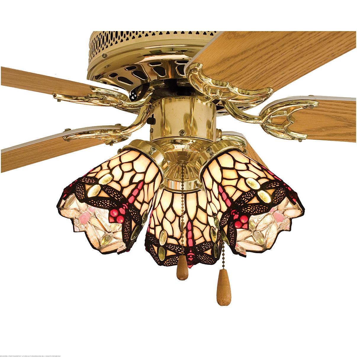 Meyda Tiffany 4 W Scarlet Dragonfly Fan Light Shade