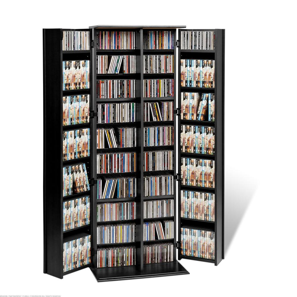 Findingking PrePac Black Grande Locking Media Storage Cabinet with Shaker Doors at Sears.com