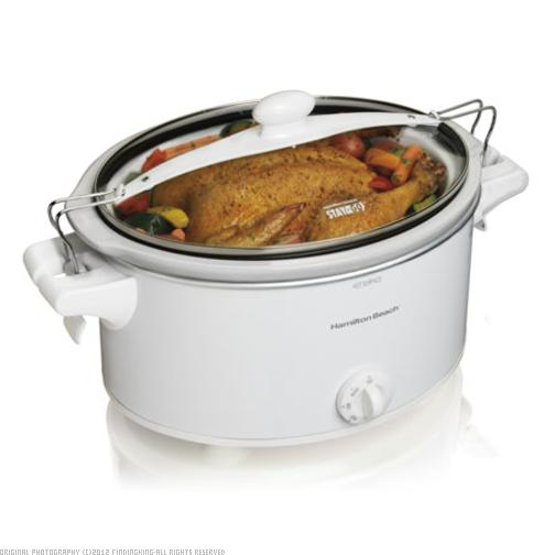 Hamilton Beach Stay or Go 6 Quart Slow Cooker White