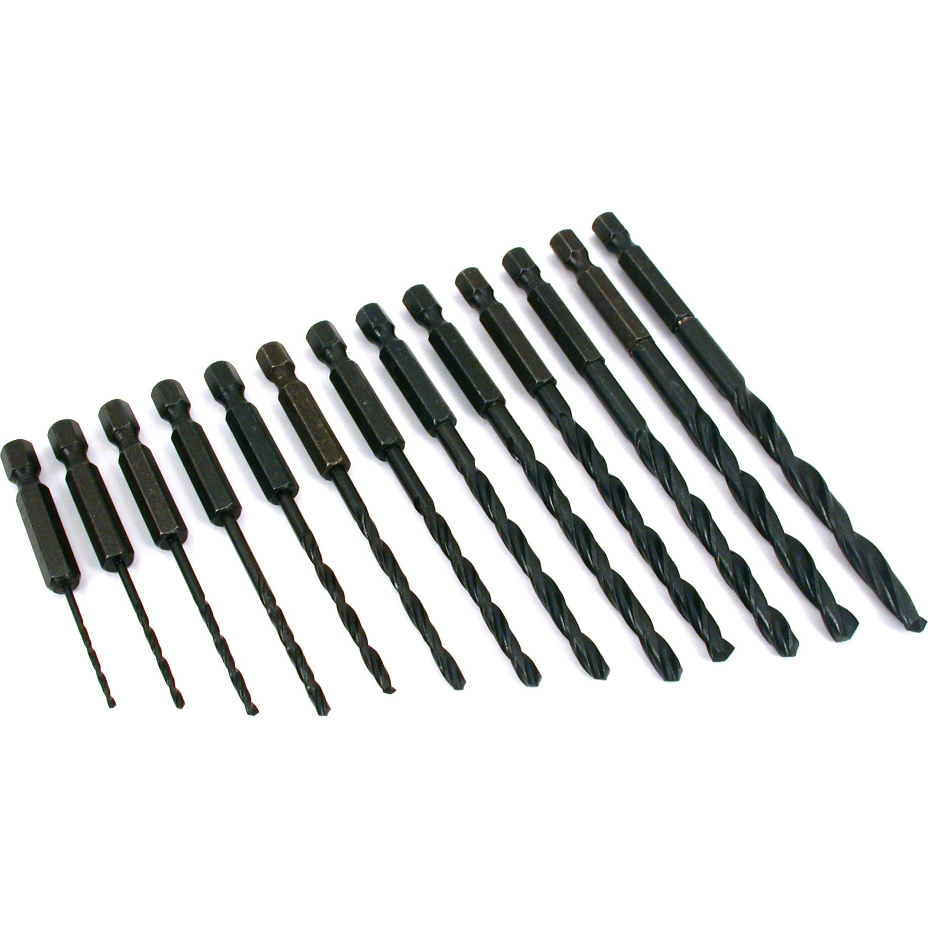 "Findingking 13 HSS Hex Head Drill Bits 1/16""-1/4"" at Sears.com"
