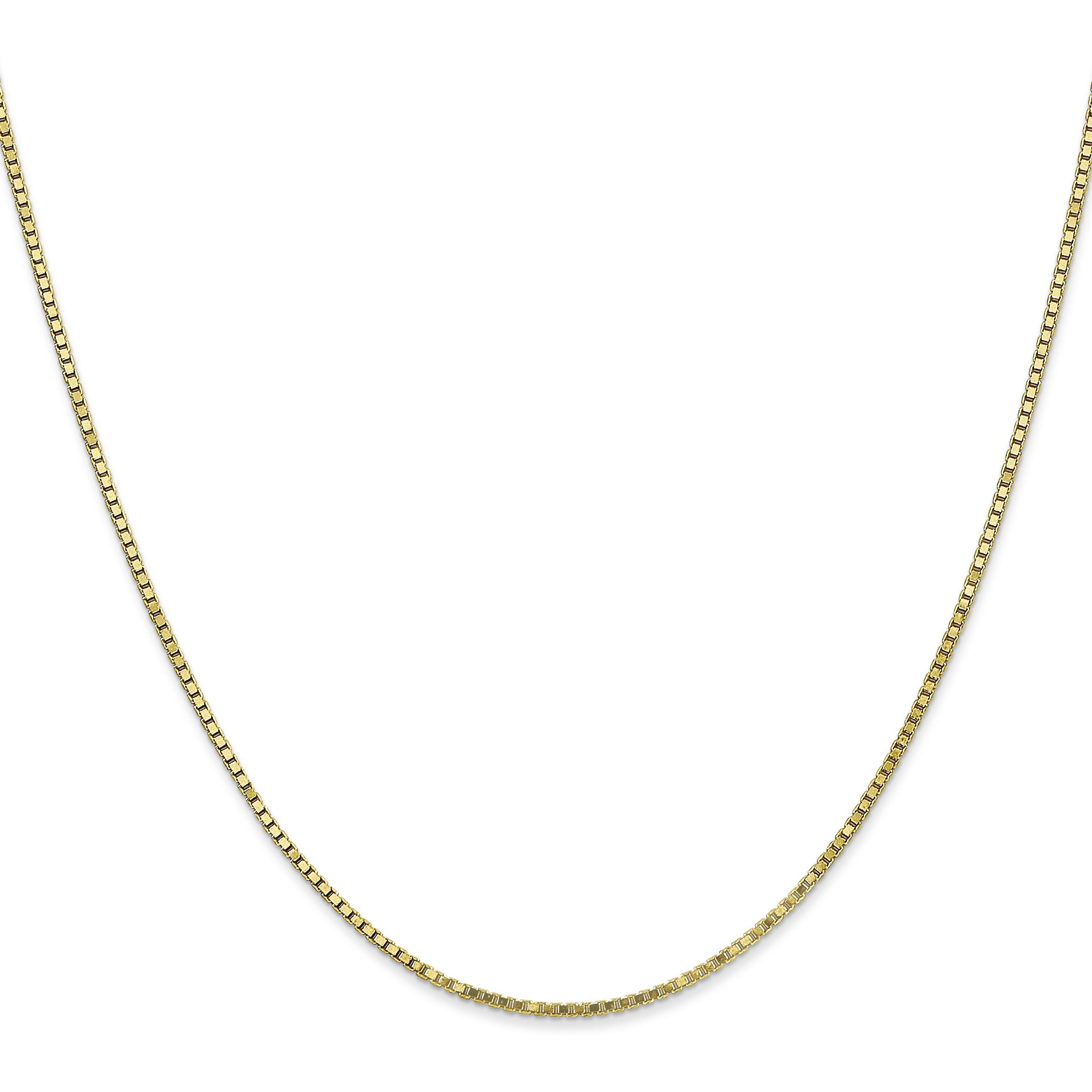 "Findingking 10K Yellow Gold 1.3mm Box Chain Necklace Jewelry 22"" at Sears.com"