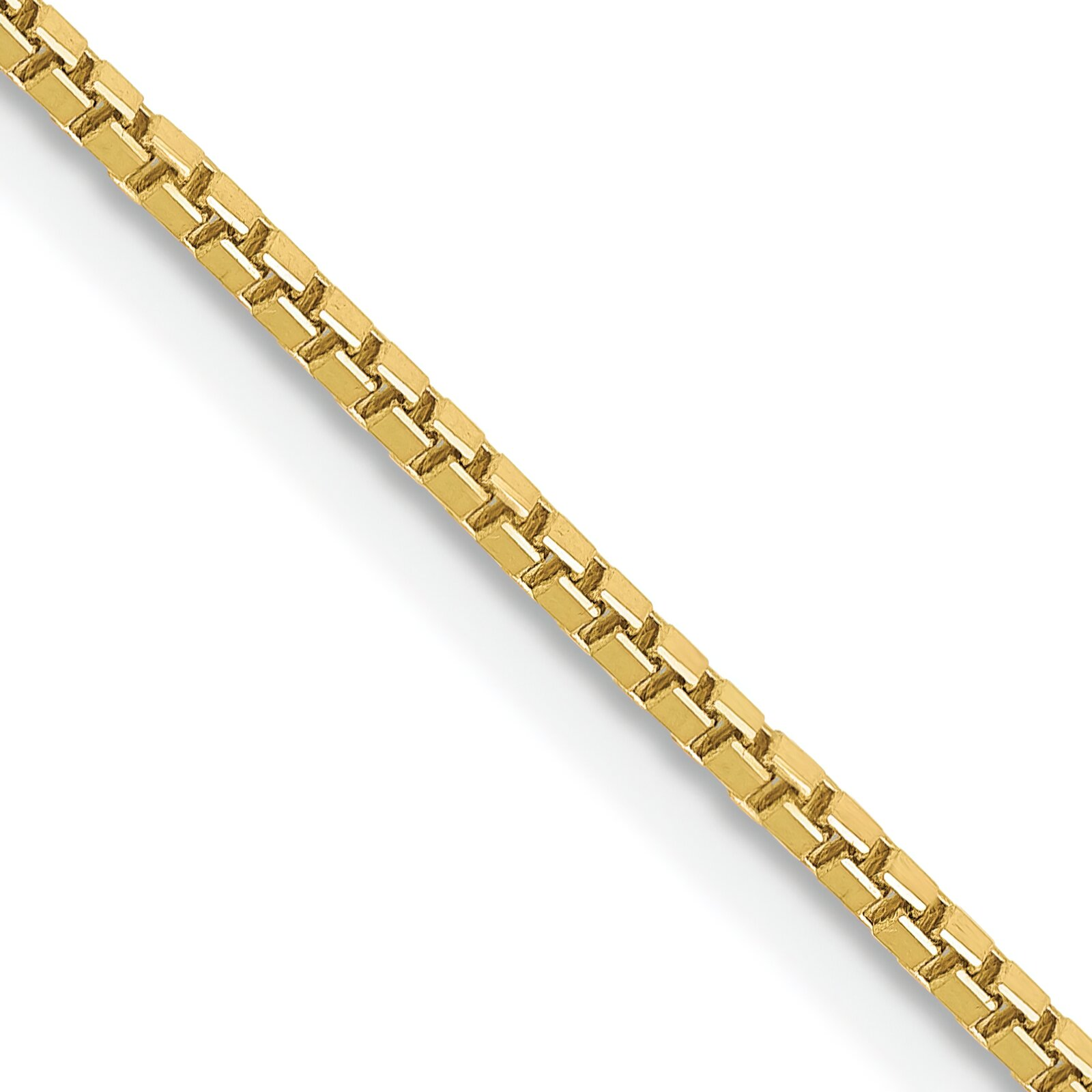 "Findingking 10K Yellow Gold 1.3mm Box Chain Necklace Jewelry 18"" at Sears.com"