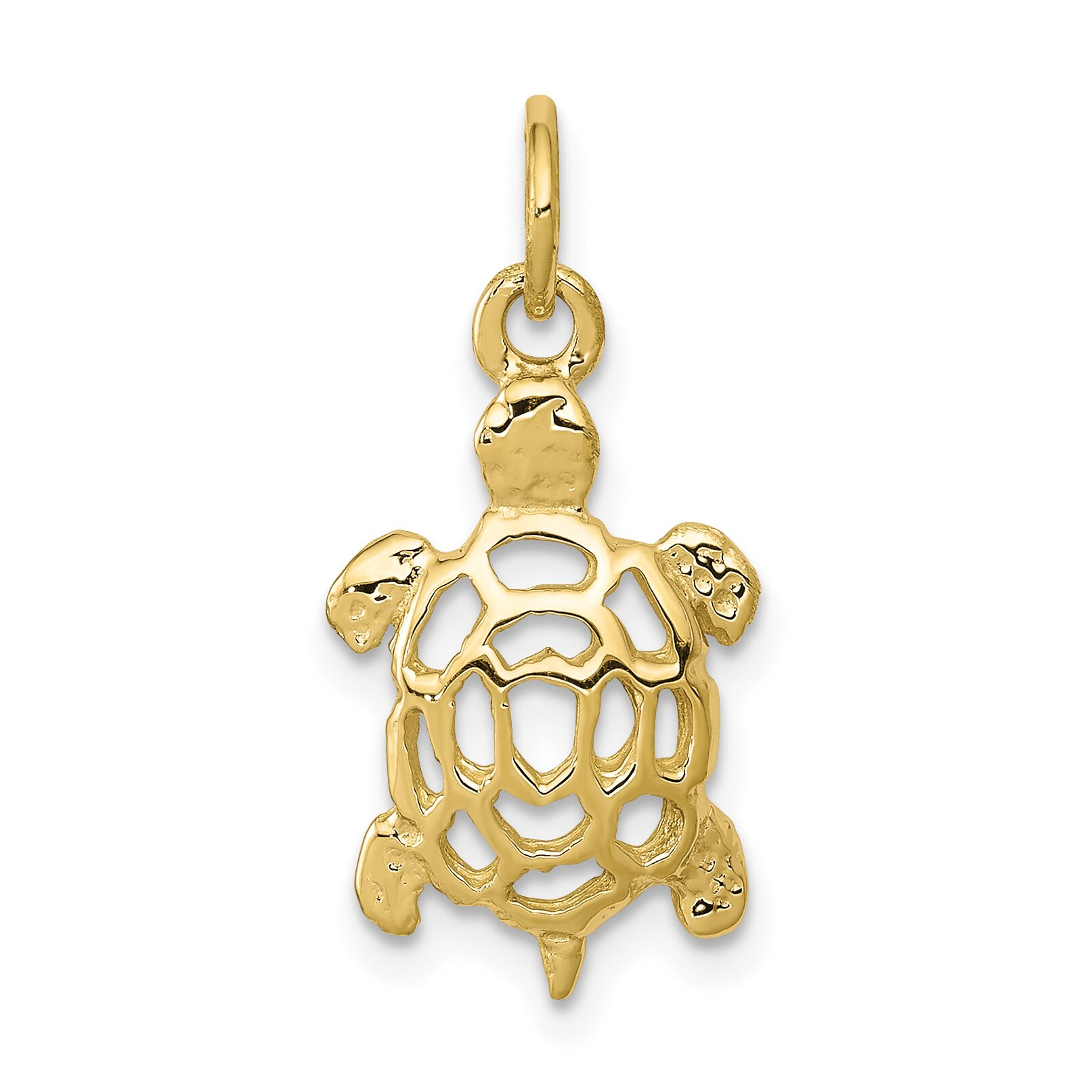 10k yellow gold turtle charm sea jewelry findingking ebay