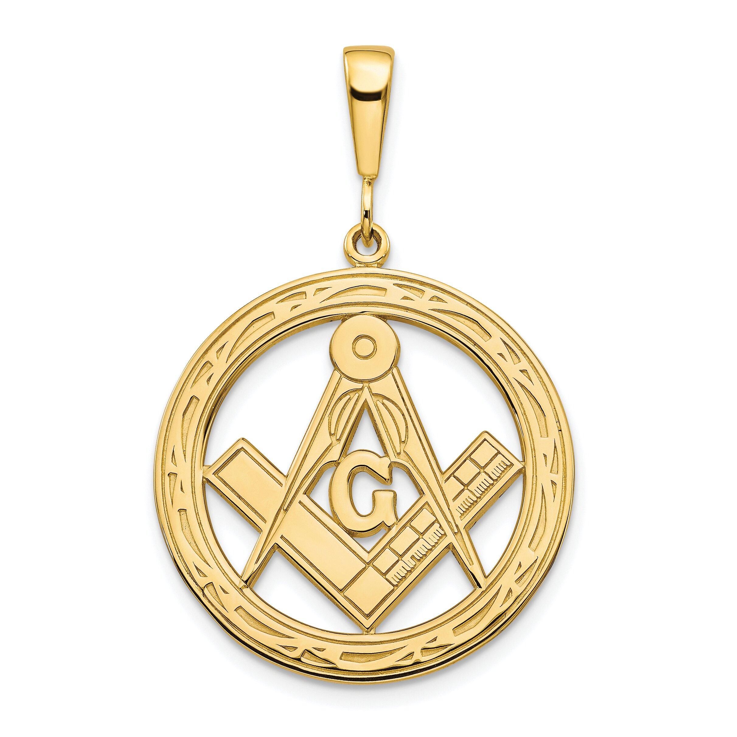 10k yellow gold masonic free symbol charm jewelry ebay