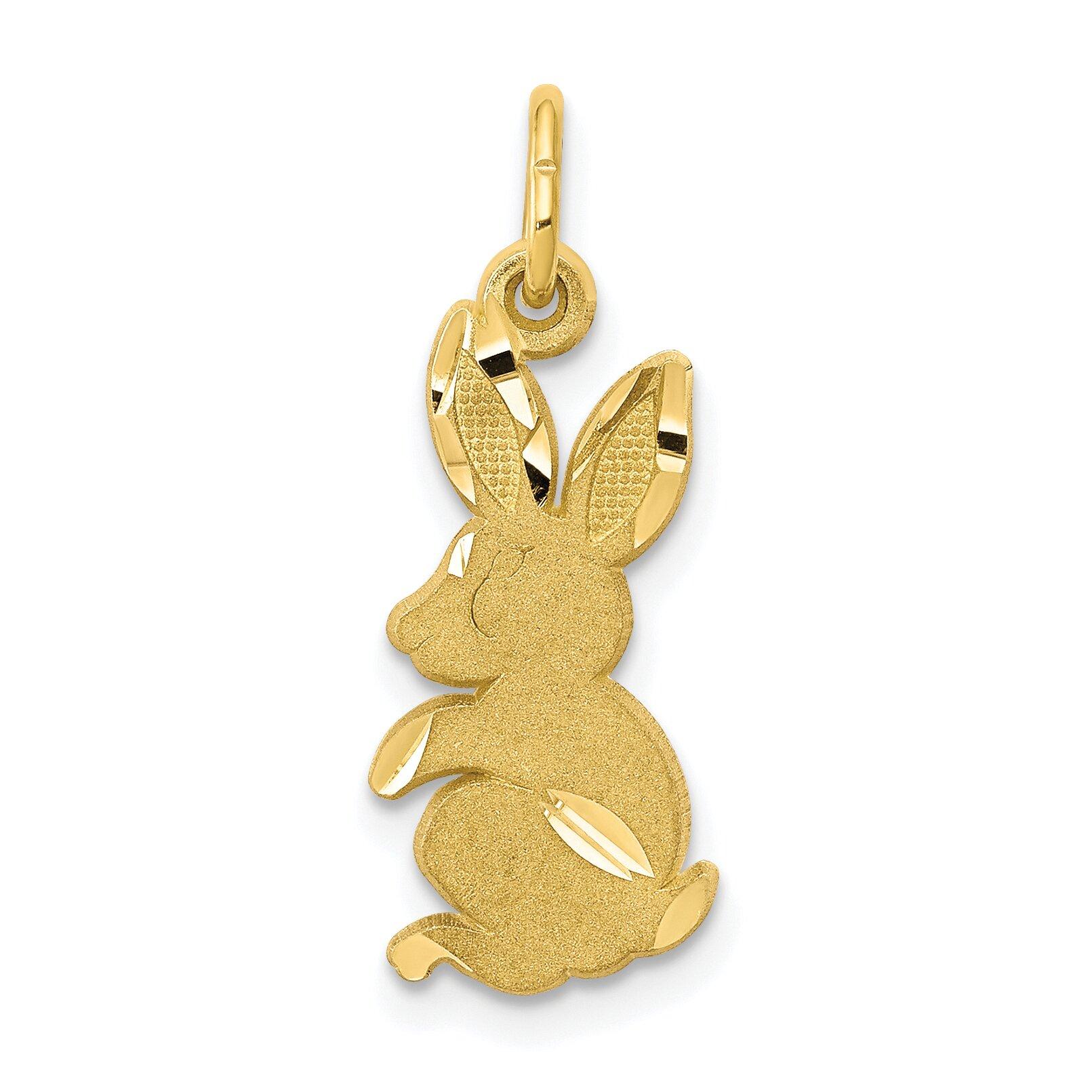 10k yellow gold baby bunny rabbit charm jewelry ebay