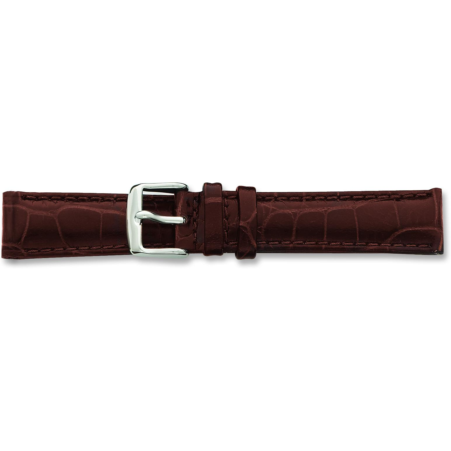 Findingking de Beer Brown Crocodile Grain Leather Watch Band 24mm at Sears.com