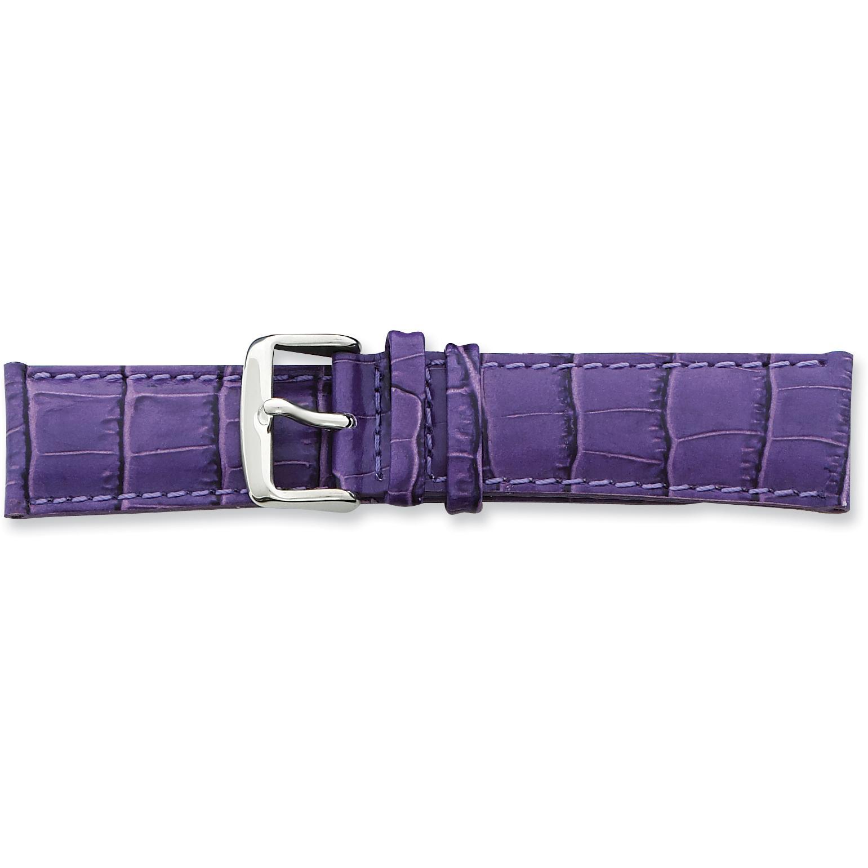 Findingking de Beer Purple Crocodile Grain Leather Watch Band 22mm at Sears.com