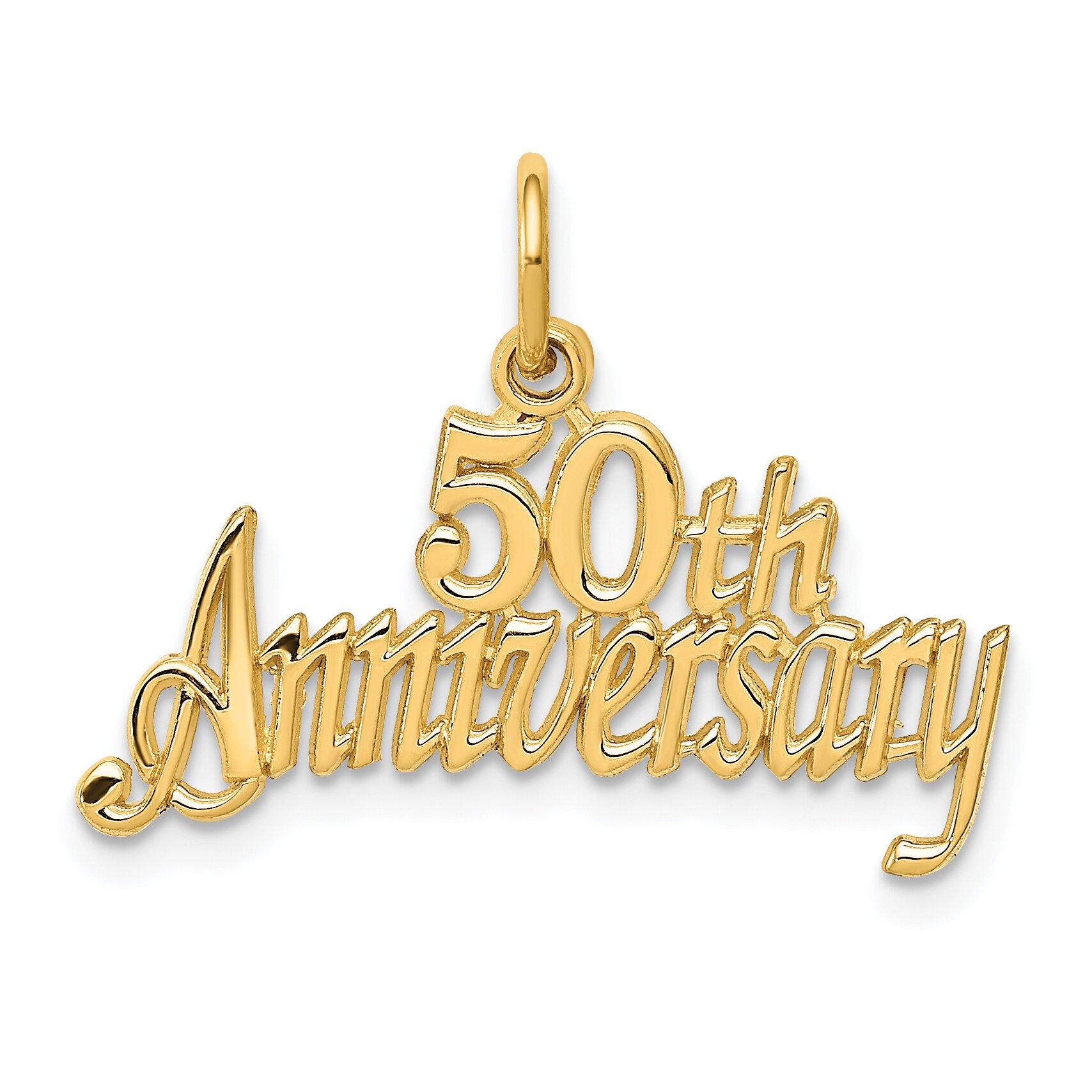 Findingking 14K Gold 50th Anniversary Charm at Sears.com