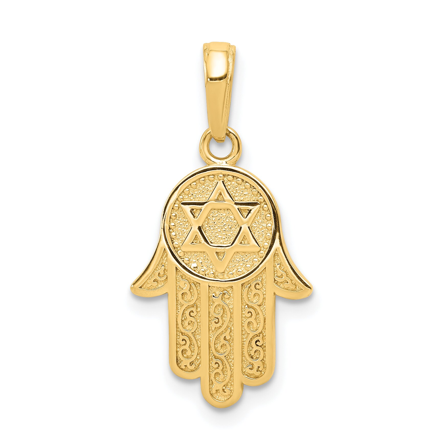 Findingking 14K Gold Jewish Hand of God Star of David Pendant at Sears.com