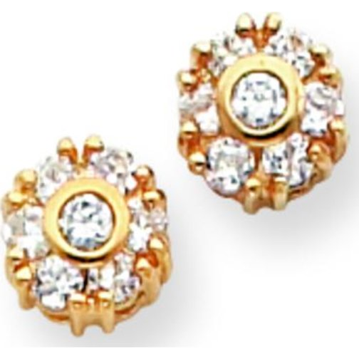 Findingking Gold Plated Cubic Zirconia Flower Stud Earrings at Sears.com