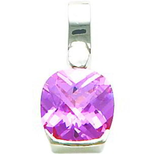 Findingking Sterling Silver Pink CZ Pendant Charm Jewelry at Sears.com