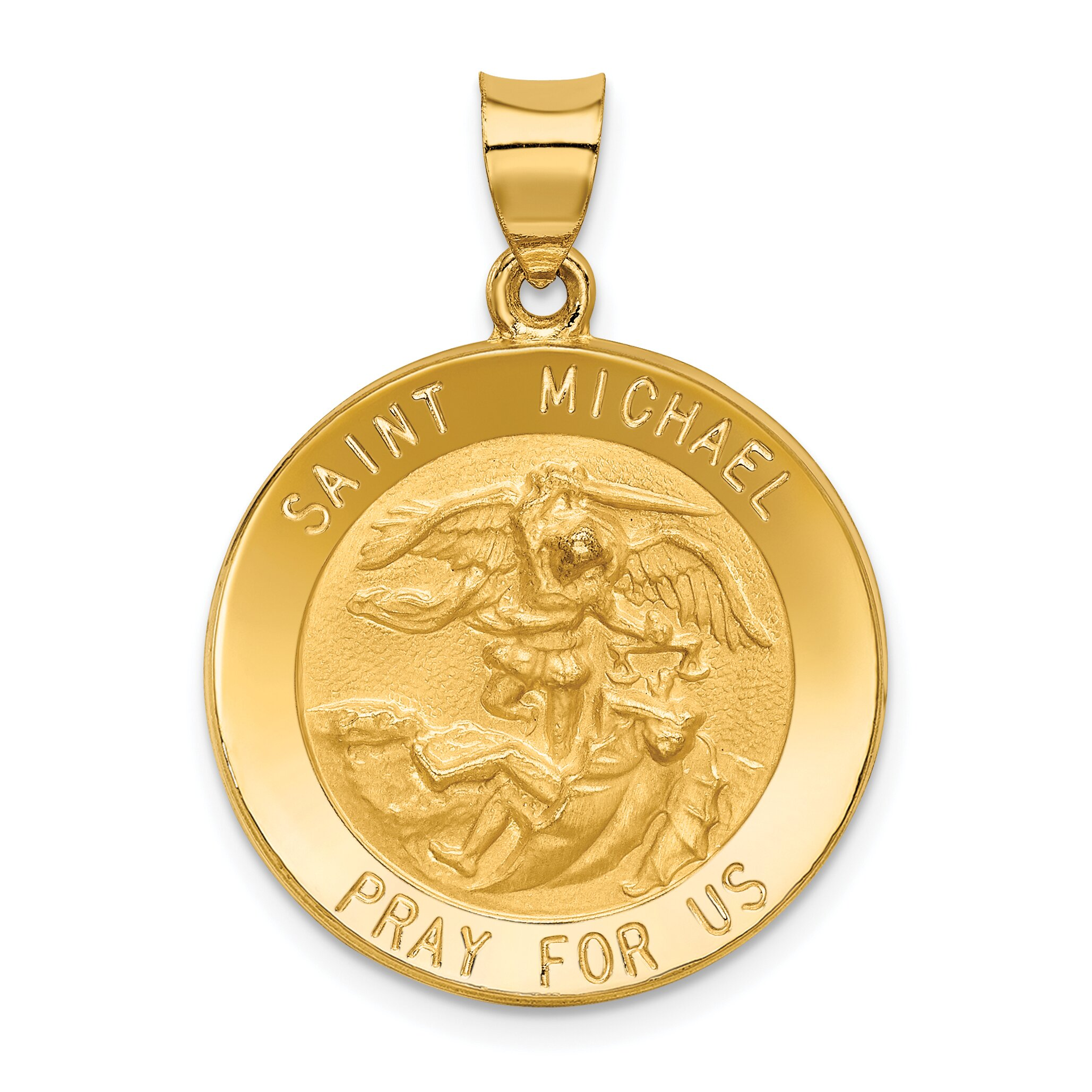 Findingking 14K Yellow Gold Saint Michael Medal Pendant Charm at Sears.com