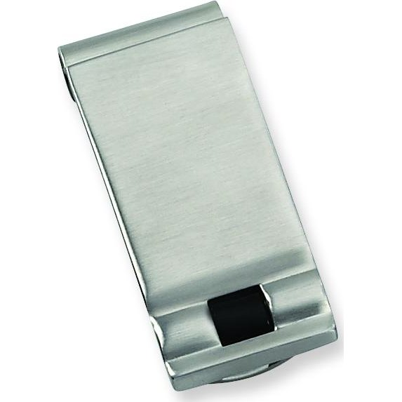 Findingking Stainless Steel Black Enamel Money Clip Mens Jewelry at Sears.com