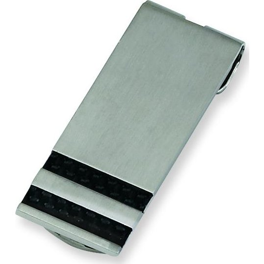 Findingking Stainless Steel Black Carbon Fiber Mens Money Clip at Sears.com