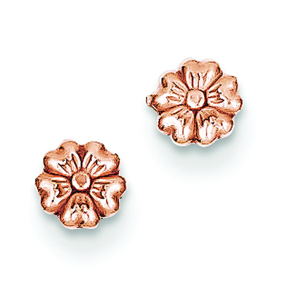 Findingking 14K Rose Gold Flower Stud Earrings Ear Jewelry at Sears.com