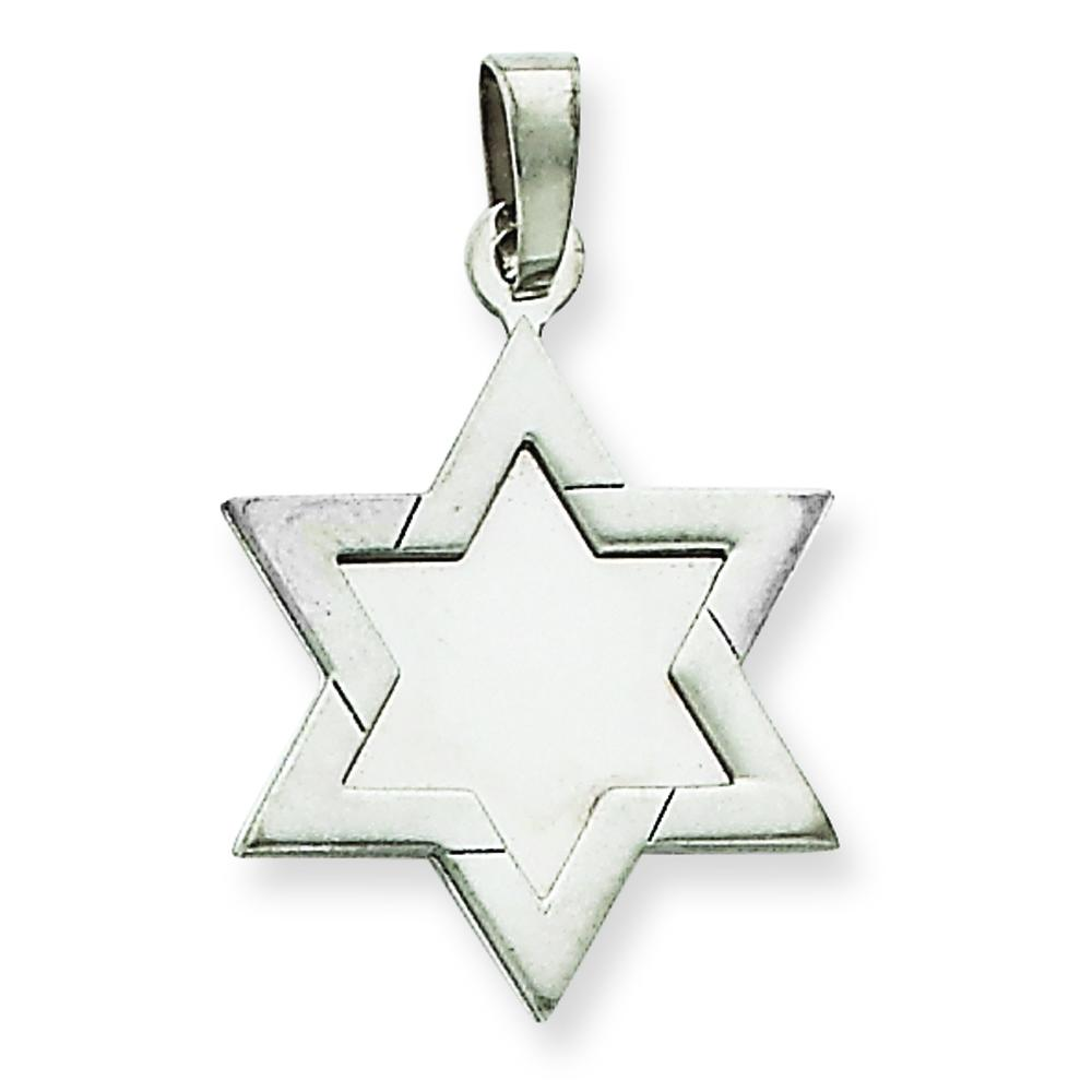 Findingking 14K White Gold Star of David Pendant at Sears.com