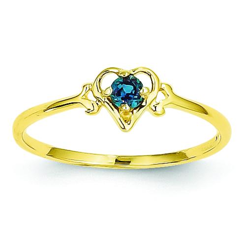 Findingking 14K Gold Lab Created Alexandrite Heart Ring at Sears.com