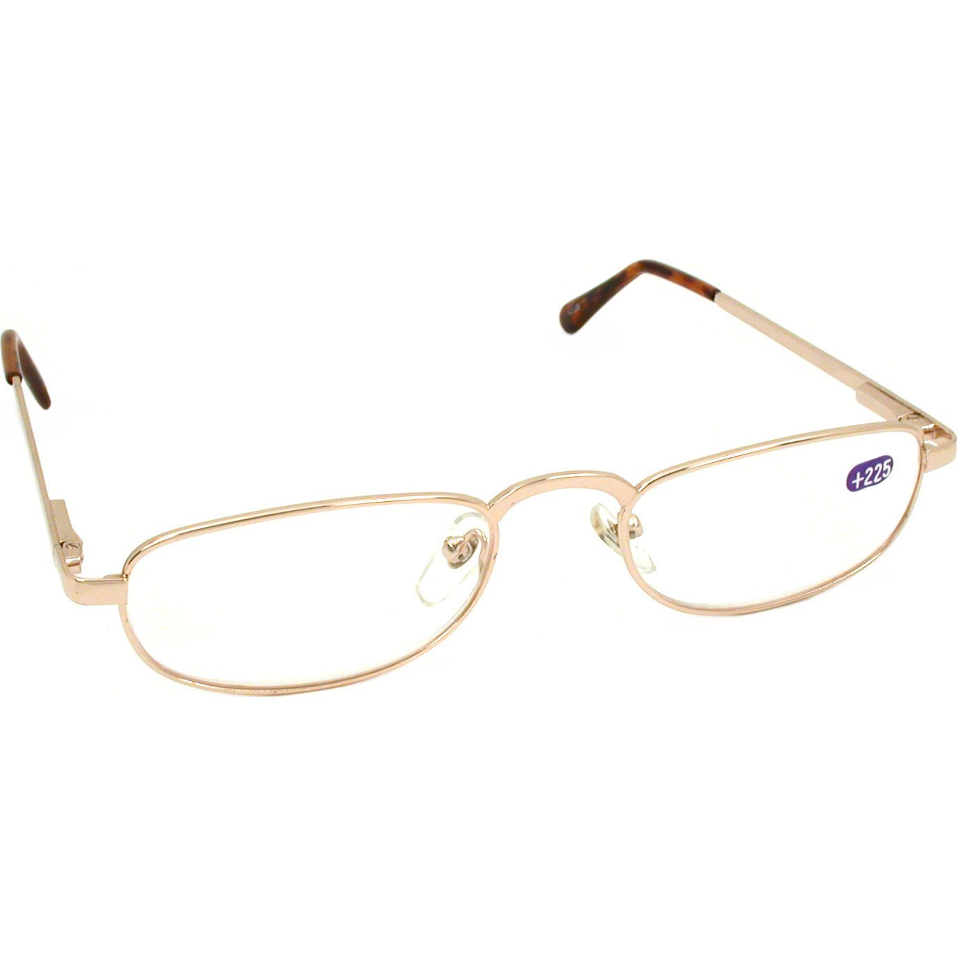 Gold Frame Reading Glasses : 2.25X Gold Colored Half Frame Reading Glasses eBay