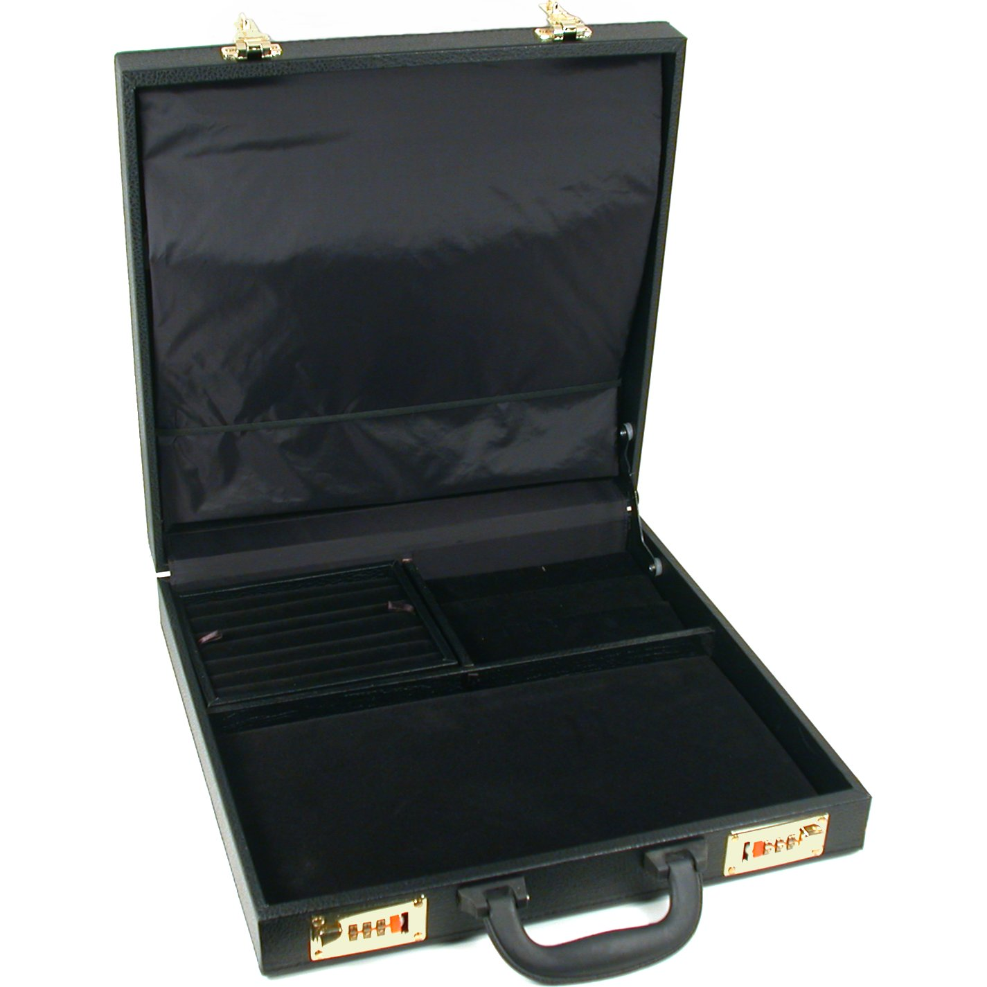 Large Jewelry Attache Display Travel Case Locks