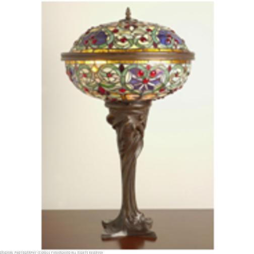 tiffany style barquare domed table lamp ebay. Black Bedroom Furniture Sets. Home Design Ideas